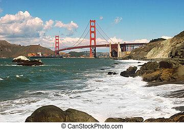 Golden Gate Bridge - Golden Gate Bridge as seen from Baker...