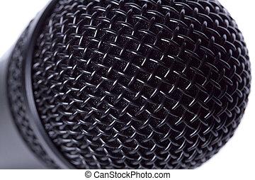 Black classic microphone