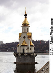 Chapel on the River Dnieper, Kiev - Ukraine