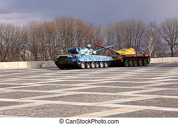 Hippy tanks in Kiev, Ukraine - Hippy tanks in Kiev, Museum...