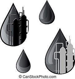 Oil and gasoline symbols for refinery industry design
