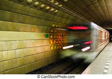 Metro in Prague.