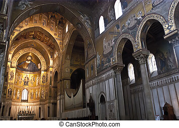Cathedral of Monreale. Palermo - Medieval Norman...
