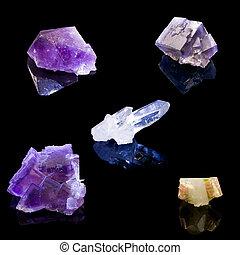 norte, norteamericano, Cristales