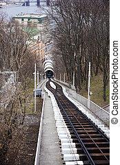 Cableway, Kiev - Cableway in action, Kiev - Ukraine
