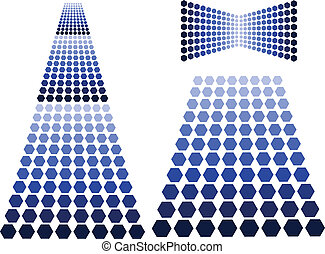 blue design elements