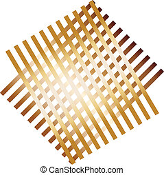 Abstract grate pattern