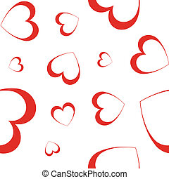hearts - vector seamless wallpaper