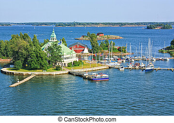 Islands near Helsinki in Finland - Islands in the Baltic Sea...