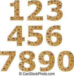 vector bubble digits