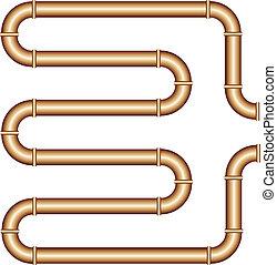 vector copper pipe