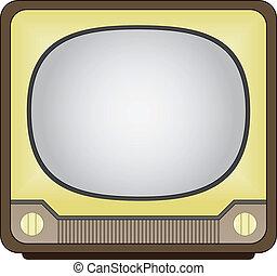vector vintage tv