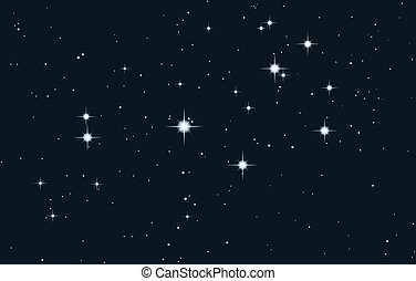 vector star galaxy - pleiades