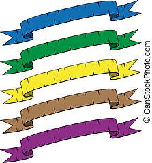 vector damaged ribbons