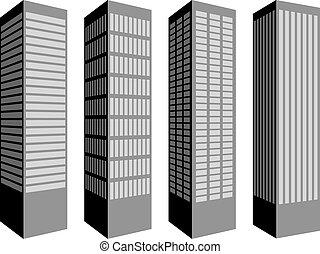 vector skyscraper symbols