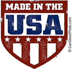 Made in the USA Stamp - A distressed Made in the USA style...