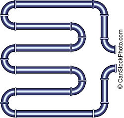 vector metallic pipe