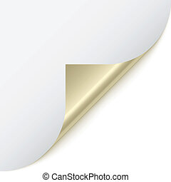 vector page corner with metallic backs