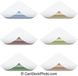 Vector page corners with metallic back