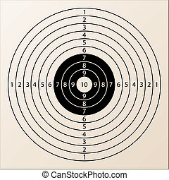 vector paper rifle target