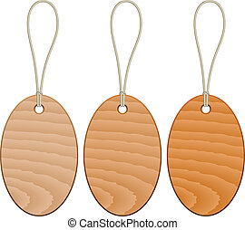 vector wooden tags