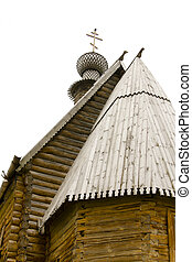 russian wood church in Suzdal