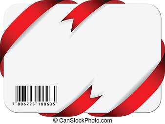 Vector festive card with barcode