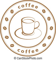 vector coffee cup stamp