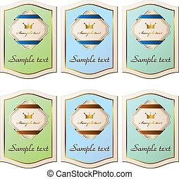 vector vintage paper labels