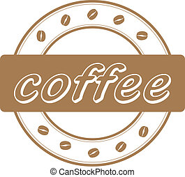 vector coffee beans stamp