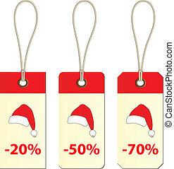vector christmas cardboard tags