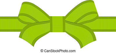 vector green bow