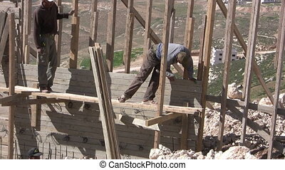 construction workers doing his duty - construction workers...