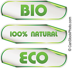 vector eco stickers