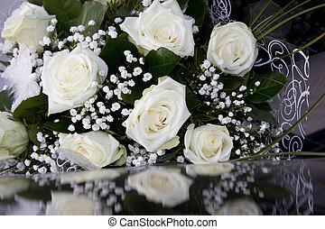 farfalla, bianco, fiori, matrimonio