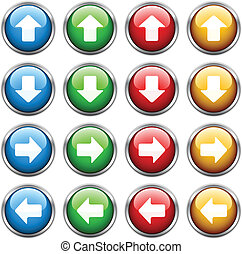 vector arrow buttons