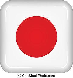 Vector japan flag