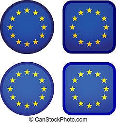 Vector EU flags