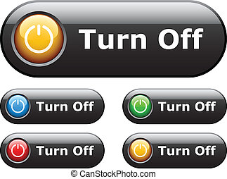 vector black glossy buttons