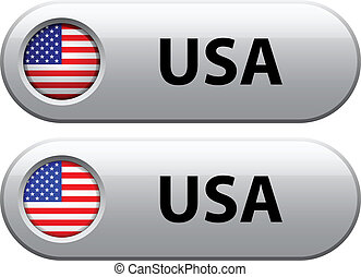 Vector USA flag buttons