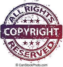 vector damaged copyright stamp