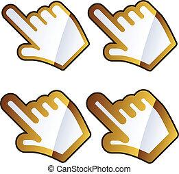 vector hand cursors