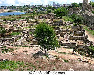remains of the ancient city