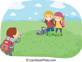 Camp Photo - Illustration of Campers Taking Pictures