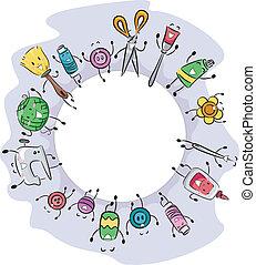 Craft Materials - Illustration of Craft Materials Gathered...