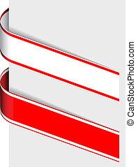 vector ribbon sign