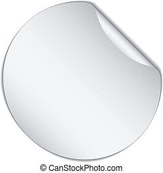 vector white bended sticker