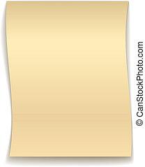 vector yellow wavy paper