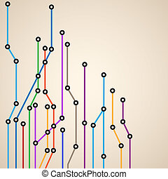 subway map - Abstract background of a subway map.Vector...