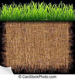 Eco background with green grass.Vector eps10